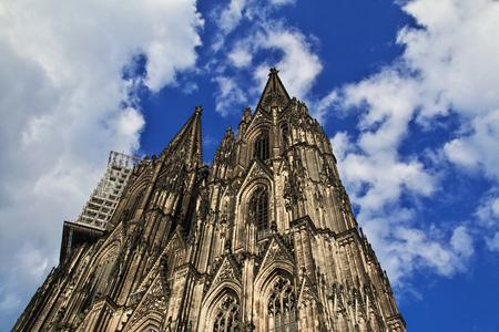 Antica cattedrale di Colonia in Germania Archivio Fotografico