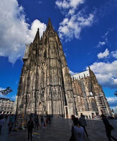 Ancient Cologne Cathedral in Germany Imagens