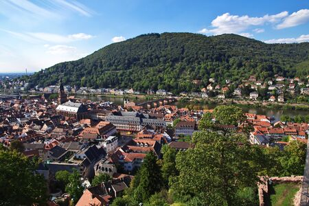 View in Heidelberg city in Germany Imagens