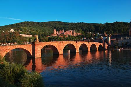 Bridge in Heidelberg city in Germany