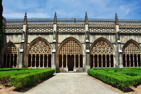Ancient Dominican monastery in Batalha, Portugal Imagens