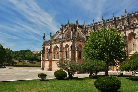 Ancient Dominican monastery in Batalha, Portugal