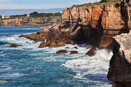 Sea coast of Atlantic ocean, Portugal