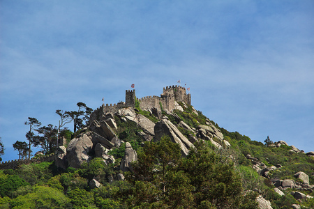 the view on Pena palace, Sintra