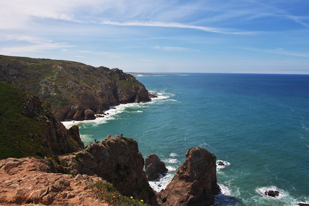 Cape Roca on Atlantic ocean, Portugal