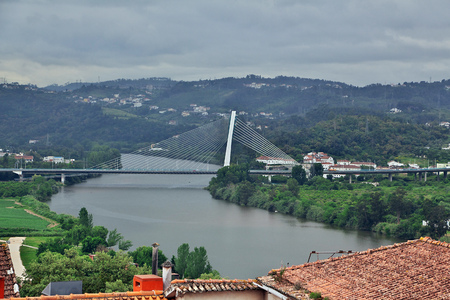 The view on river in Coimbra city, Portugal