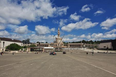 The church in Fatima city, Portugal