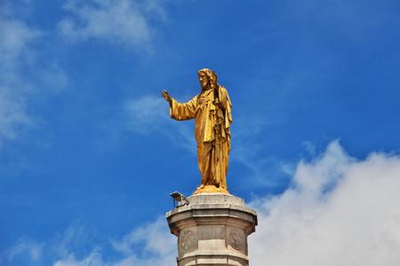 The monument in Fatima city, Portugal