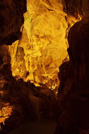 Grutas de Mira de Aire - The Cave in Portugal Archivio Fotografico - 123965470