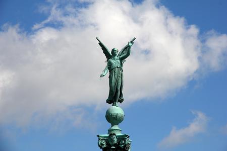 Monument in Copenhagen city, Denmark Stock Photo