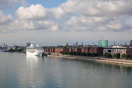 Marina in Copenhagen city, Denmark Stock Photo