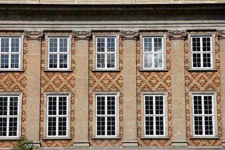 The windows of palace in Copenhagen city, Denmark