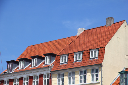 The roof of building in Copenhagen city, Denmark Stock Photo