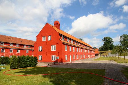 The building in Copenhagen city, Denmark