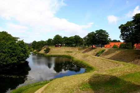 The park in Copenhagen city, Denmark Stock Photo