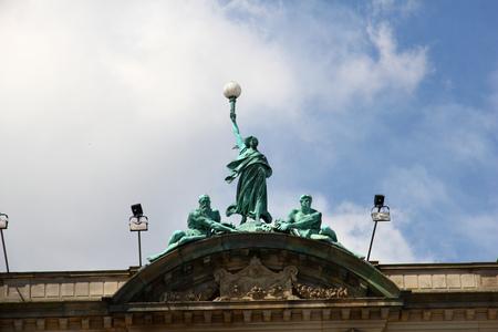 The monument in Copenhagen city, Denmark