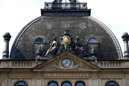 The roof of the building in Copenhagen city, Denmark