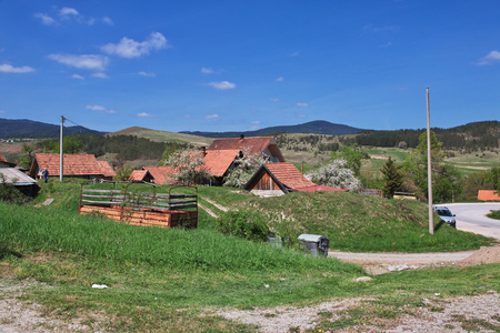 Small village in Serbia, Balkan mountains