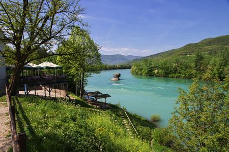 River in Serbia, Balkans mountains
