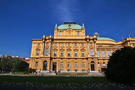 Theatre in Zagreb city, Croatia 免版税图像