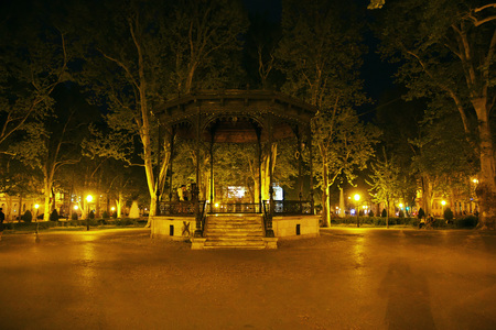Night at Zagreb city is the capital of Croatia, Balkans 免版税图像