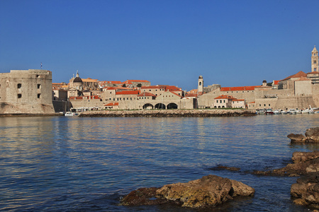 Castle in Dubrovnik city on the Adriatic sea, Croatia
