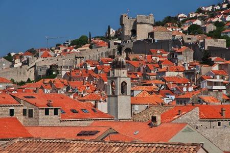 Roofs in Dubrovnik city on the Adriatic sea, Croatia