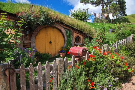 Hobbiton, New Zealand - 15 Dec 2018. Hobbiton is theme Park in New Zealand.