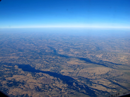 The view on Ethiopia from the airplane
