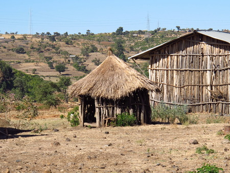 The village in Ethiopia country, Africa Stock Photo