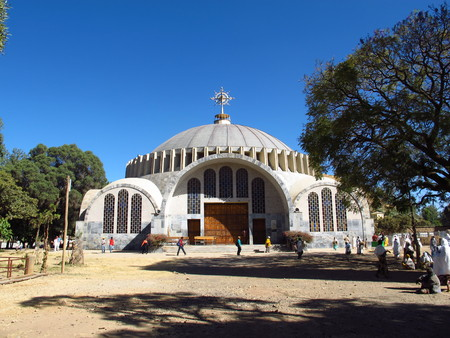 The ancient Orthodox Church in Axum city, Ethiopia