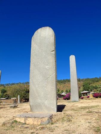 Obelisks in Axum city, Ethiopia