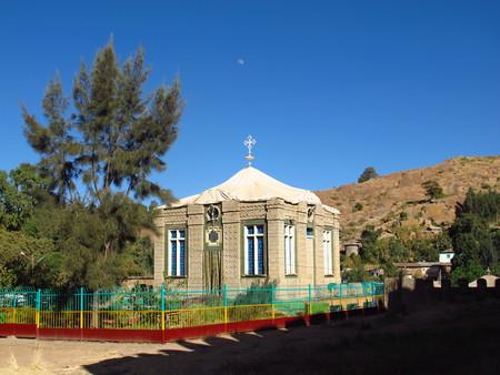 Die alte orthodoxe Kirche in der Stadt Axum, Äthiopien