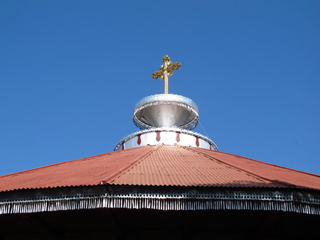 The Orthodox monastery in the heart of Africa, Ethiopia 免版税图像