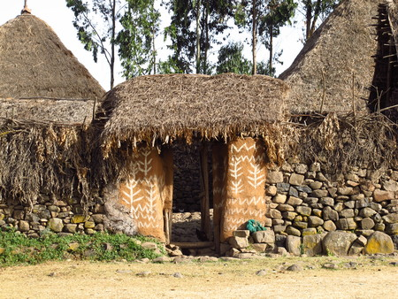Tribal village in Ethiopia, Africa