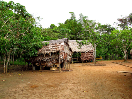 Indian village of the Amazon in Peru
