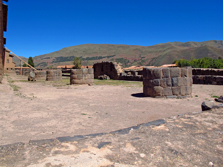 Ruins of Inca city on Altiplano, Peru