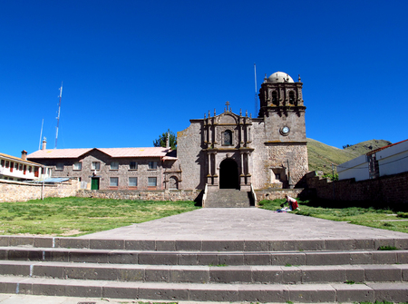 Church on border Peru and Bolivia