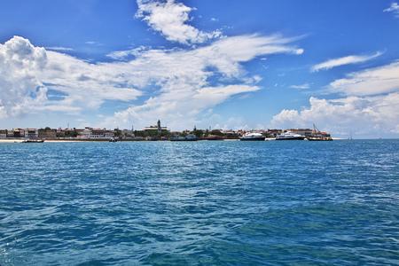 The ferry to Zanzibar, Tanzania Imagens