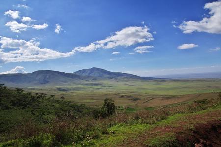 Hills and savanna on Safari in Kenia and Tanzania, Africa