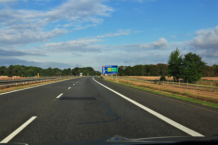 Road from Wroclaw to Krakow, Poland