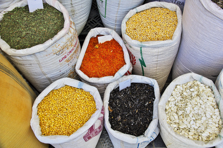 Market in acient city Yazd in Iran