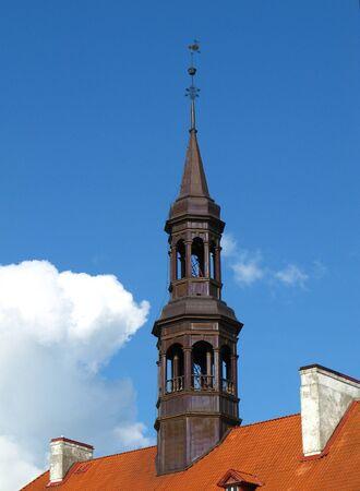 The town hall in Narva city, Estonia
