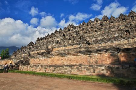Borobudur - the great Buddhist temple in Indonesia