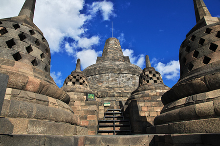 Borobudur - the great Buddhist temple in Indonesia