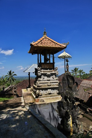 The village on mountains of Bali, Indonesia