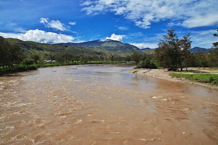 The river in valley of Wamena, Papua