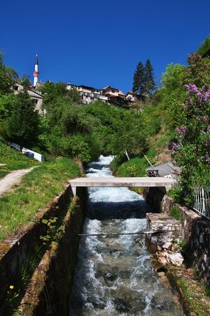 The river in Travnik, Bosnia and Herzegovina Banque d'images