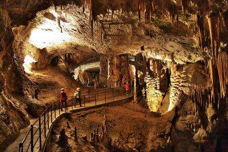 Postojna Caves in mountains of Slovenia