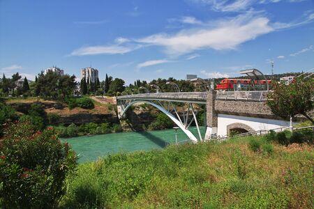 The bridge in Podgorica city, Montenegro